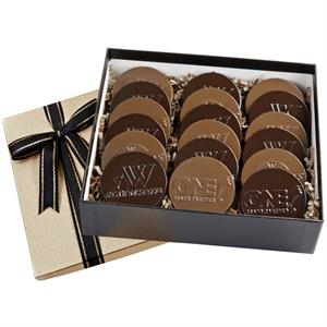Six piece cookie and confection gift box