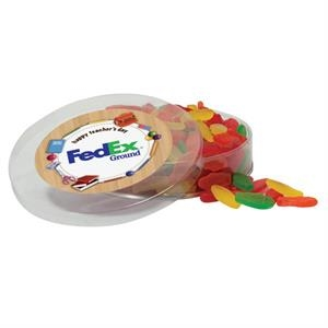Candy in acetate container