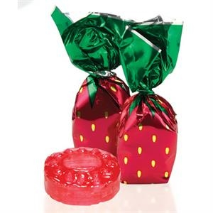 Individually wrapped strawberry delight candy
