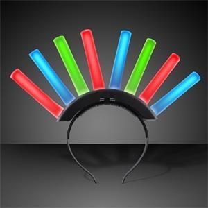 Foam Light Up Mohawk with Multicolor LEDS