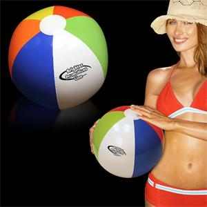 "Inflatable 16"" Multi Colored Beach Ball"