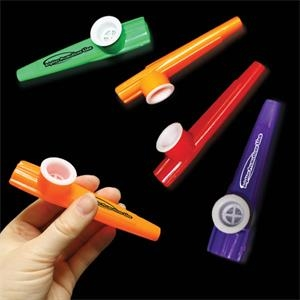 "3 1/2"" Assorted Color Plastic Kazoos"
