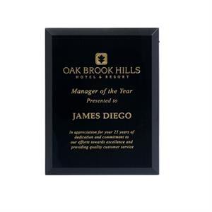 """Delphos Black Glass Plaque 8\"""""""