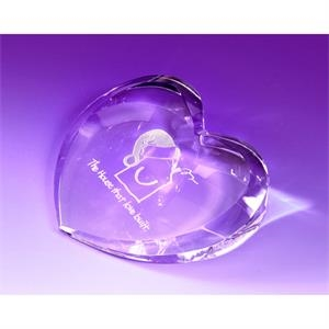 Kent Heart Shaped Paperweight 4 1/4""