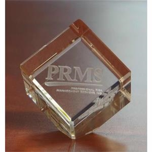 Small Jewel Cube 3D Crystal Award