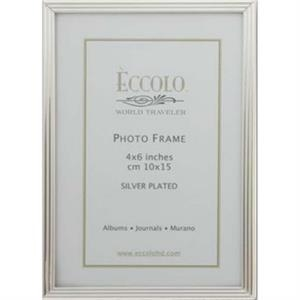 "Silver Collection - Silverplated Striped Frame, 4"" X 6"""