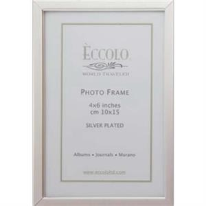 "Silver Collection - Silverplated Simple Narrow Border Frame, 4"" X 6"""