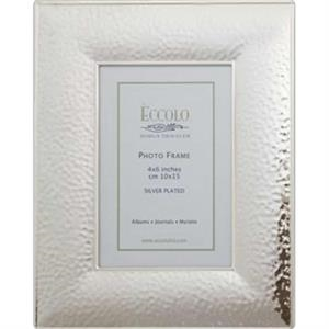 "Silver Collection - Silverplated Hammered Frame, 4"" X 6"""