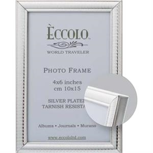 "Silver Collection Egg & Dart - Silverplated Frame, 4"" X 6"""