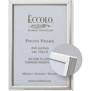 "Silver Collection - Silverplated Boxes Frame, 5"" X 7"""