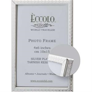 "Silver Collection Stella - Silverplated Frame, 4"" X 6"""