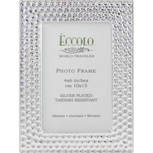 "Silver Collection Modern Disco - Silverplated Frame, 4"" X 6"""