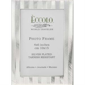 "Silver Collection - Silverplated Herringbone Frame, 5"" X 7"""