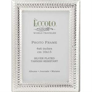 "Silver Collection - Silverplated Dimples Frame, 5"" X 7"""