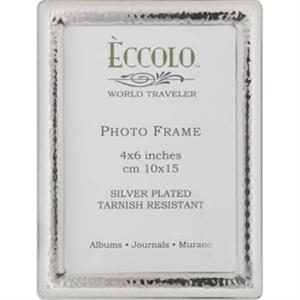 "Silver Collection - Silverplated Narrow Hammered Frame, 5"" X 7"""