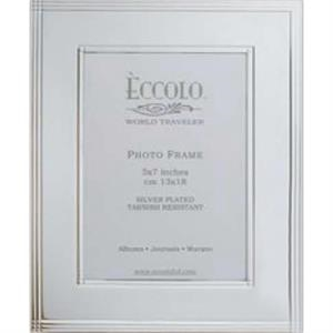 "Silver Collection - Silverplated Frame With Chased Border, 5"" X 7"""