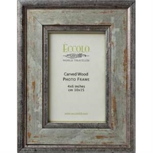 "Fashion Wood Frame Collection Argento - Wood Frame, 3"" X 3"""