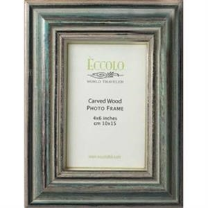 "Fashion Wood Frame Collection Acqua - Wood Frame, 5"" X 7"""