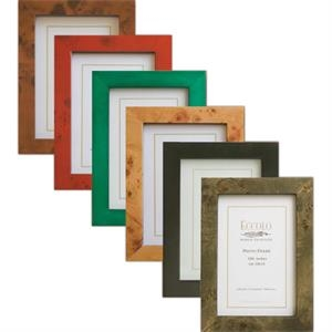 "Burl Collection - Genuine Brown Burlwood Frame, 4"" X 6"""