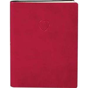 "The Essential Collection Red Heart - Flexible Cover Journal With Lined Pages, 5"" X 7"""