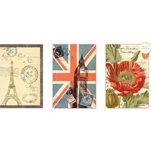 "The World's Fair Collection Poppies - Journal With Lined Pages And An Attached Bookmark, 6"" X 8"""