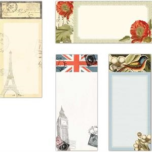 "The World's Fair Collection Poppies - Magnet List Pad, 3.5"" X 8"""