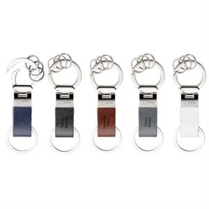 Fabrizio - Metal Key Ring With Vinyl Strap And Chrome Trim