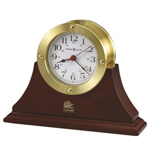 South Pier - Howard Miller Satin Brass Captain's Clock