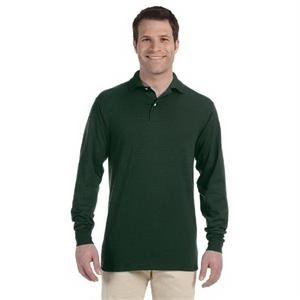 Jerzees (r) - Colors 2 X L - Long-sleeve Colored Knit Polo Shirt With Stain Resistance