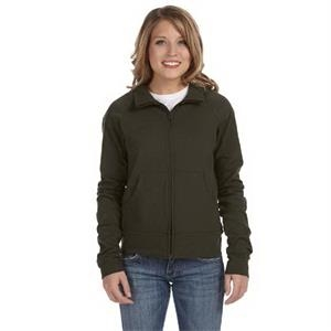 Bella + Canvas (tm) Los Angeles The Active Collection - 2 X L - Ladies' 6.5 Oz. Cotton/spandex Cadet Jacket
