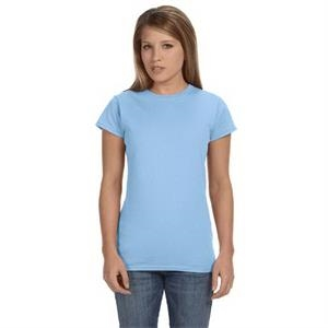 Gildan (r) Softstyle (r) - Heathers S- X L - Ladies' 4.5 Oz. Junior Fit T-shirt With Set In Sleeves