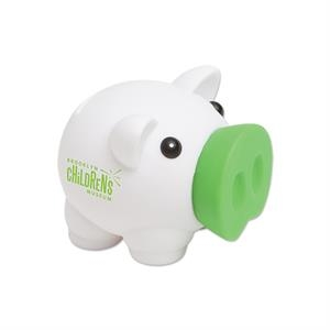 "Green - Piggy Bank, 4"" X 3"""