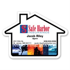 Jumbo House Shaped Stock Magnet
