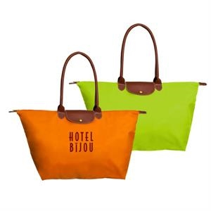 "The Metro - Nylon Tote With Zipper Top Closure & Hanging Interior Pocket; 24"" W X 14"" H X 8.5"" D"
