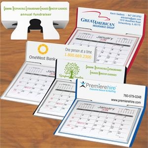 Desk Calendar, Month Per Page Pop-up Stand
