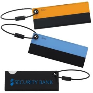 Executive Series - Luggage Tag - Metal Tag With Sliding Acrylic Name Card Cover