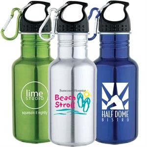 17 Oz 18/8 Stainless Steel Water Bottle With Screw On Cap