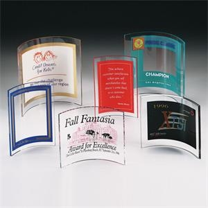 "Contemporary Design Award Set With 1/4"" Clear Acrylic With Pocket"
