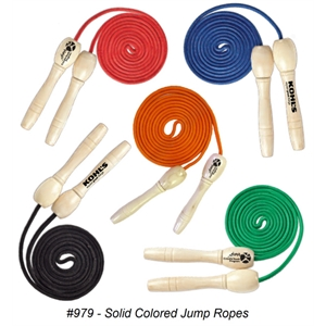 Deluxe Wooden Handle Jump Rope In Solid Colors & Variety -
