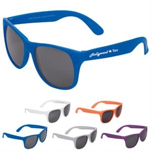 Adult-sized Matte Plastic Sunglasses With Uv Lenses