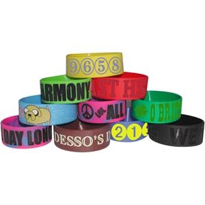 Debossed Awareness Bracelet - 100% Silicone, One Piece Construction