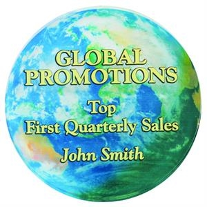 "4 Color Process Round Paperweight, 3/4"" Thick Clear Acrylic"