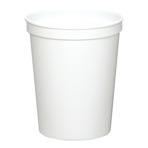 White - 16oz Stadium Cup (squat) - 17 Opaque And 4 Translucent Colors