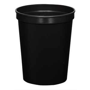 Black - 16oz Stadium Cup (squat) - 17 Opaque And 4 Translucent Colors