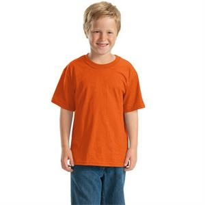 Jerzees (r) - White - Youth Sized Polyester/cotton T-shirt Seamless Body And Set In Sleeves