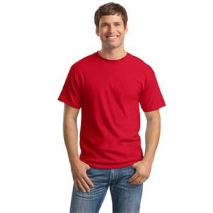 Hanes (r) Comfortsoft (r) - 2 X L White - Heavyweight 5.2 Oz. 100% Cotton T-shirt With Double-needle Sleeve And Hem