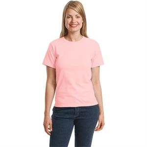 Hanes (r) - 2 X L White - Ladies' Crewneck T-shirt With Coverseamed Neck