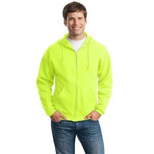 Jerzees (r) - 2 X L Colors - Full Zip 8 Oz. Fleece Hooded Sweat Shirt With Set-in Sleeves