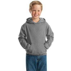 Jerzees (r) - Heathers - Hooded Youth Size Pullover Sweat Shirt With Pouch Pocket