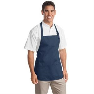 Port Authority Medium-Length Apron with Pouch Pockets.